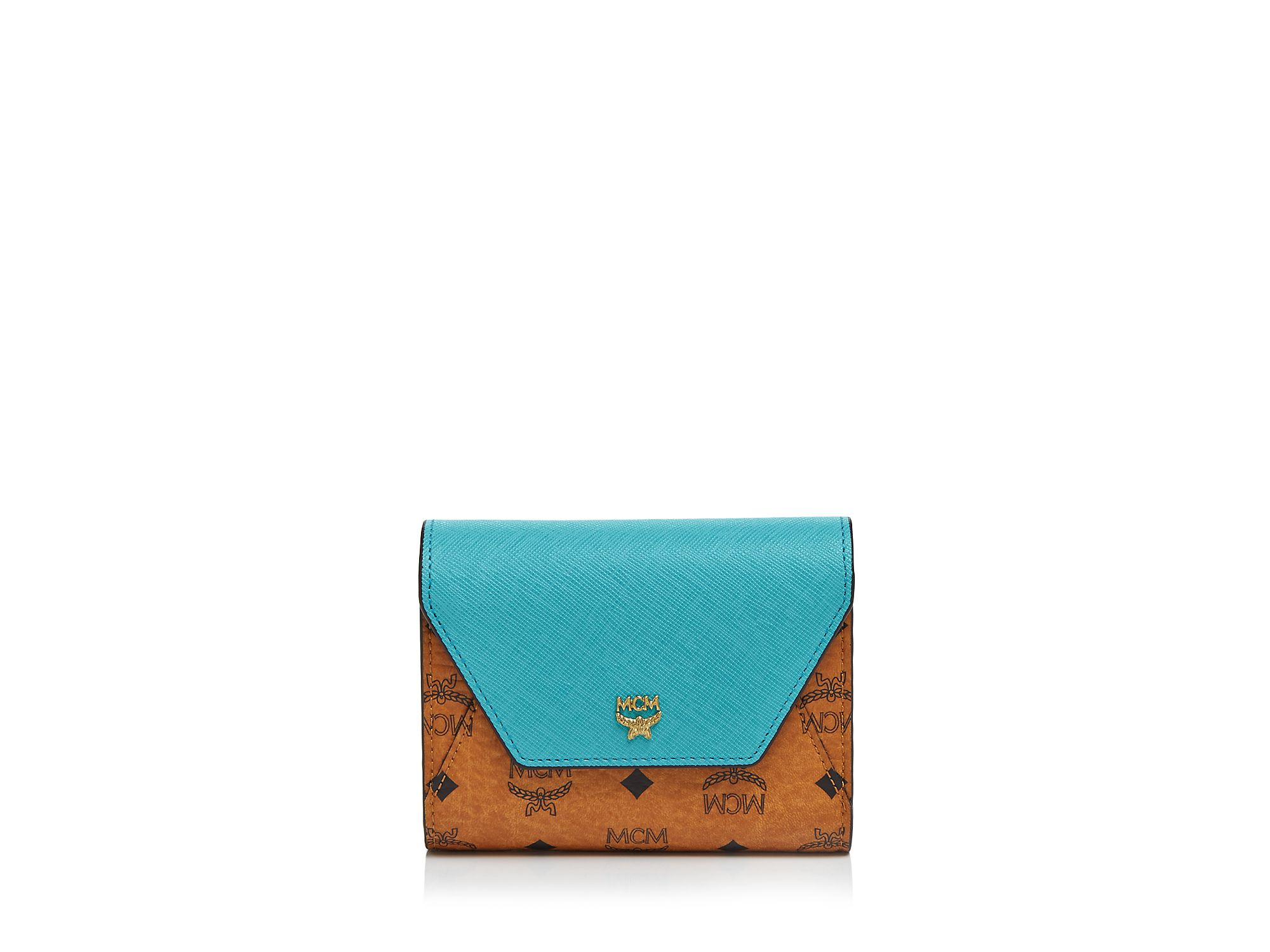 Lyst - Mcm Wallet - Love Letter Visetos Flap Tri-Fold Small In Brown