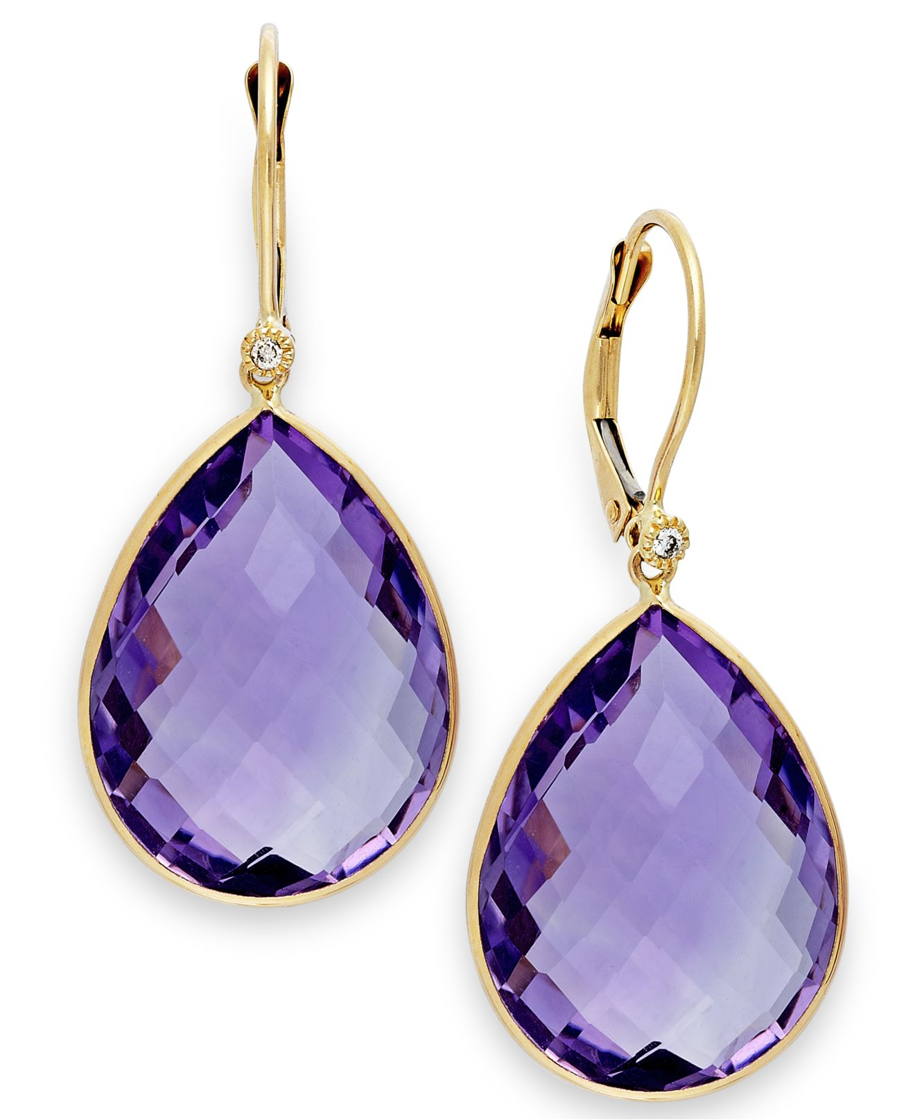 Macy S Pink Amethyst 36 1 2 Ct T W And Diamond Accent Earrings