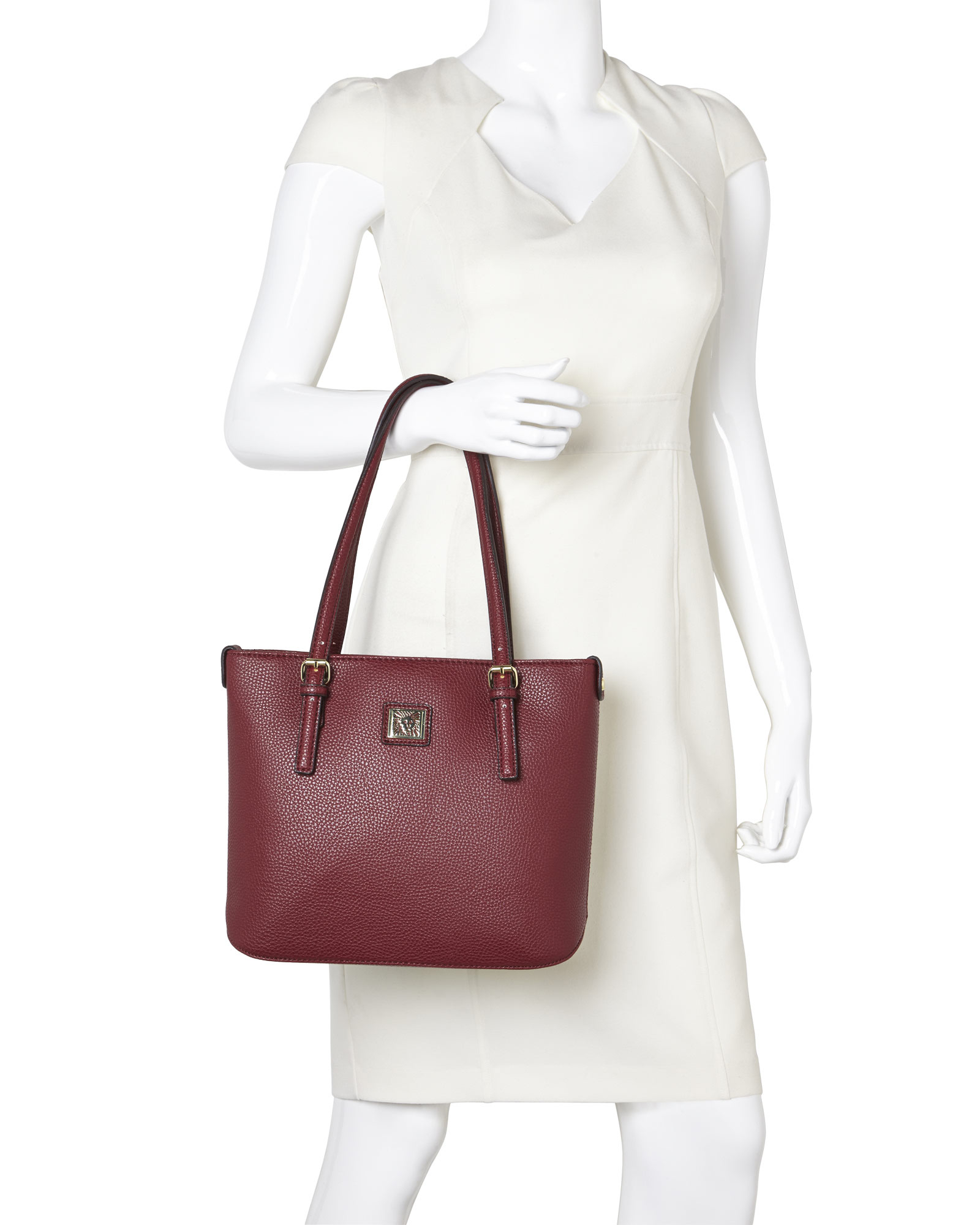 Anne klein Bordeaux Perfect Tote Small Shopper in Purple | Lyst