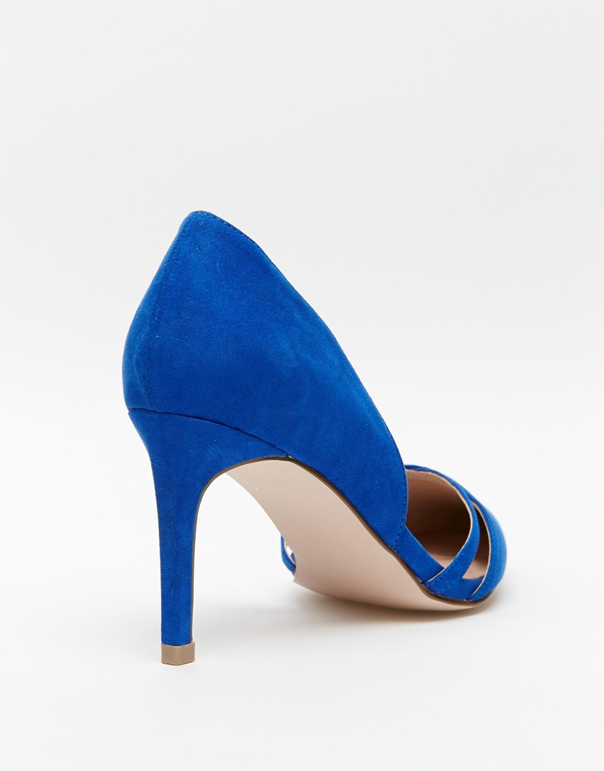f3600a01729 Lyst - ASOS Surprise Wide Fit Heels in Blue