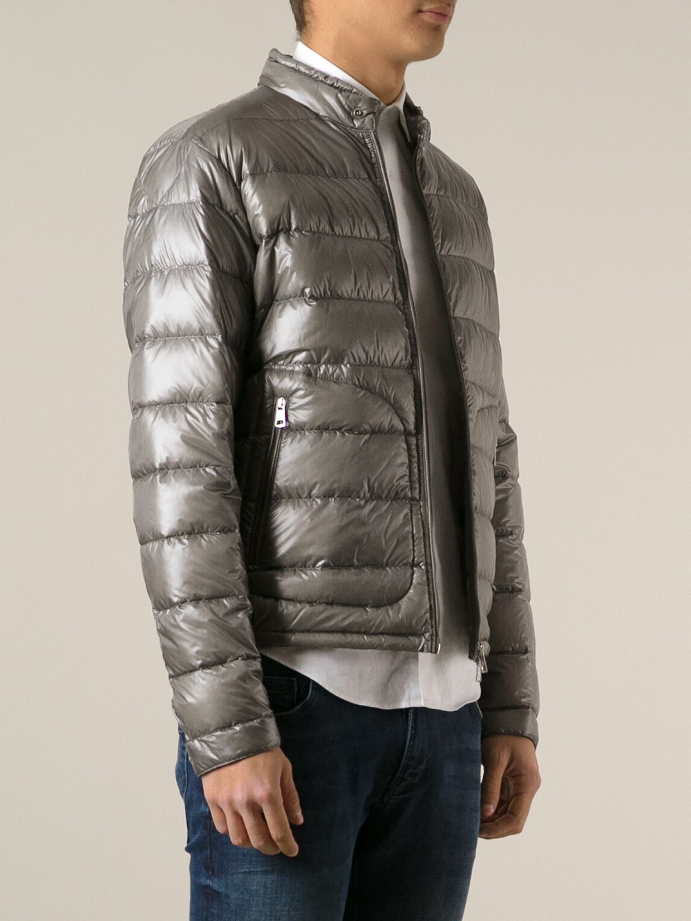 moncler acorus padded jacket in gray for men lyst. Black Bedroom Furniture Sets. Home Design Ideas