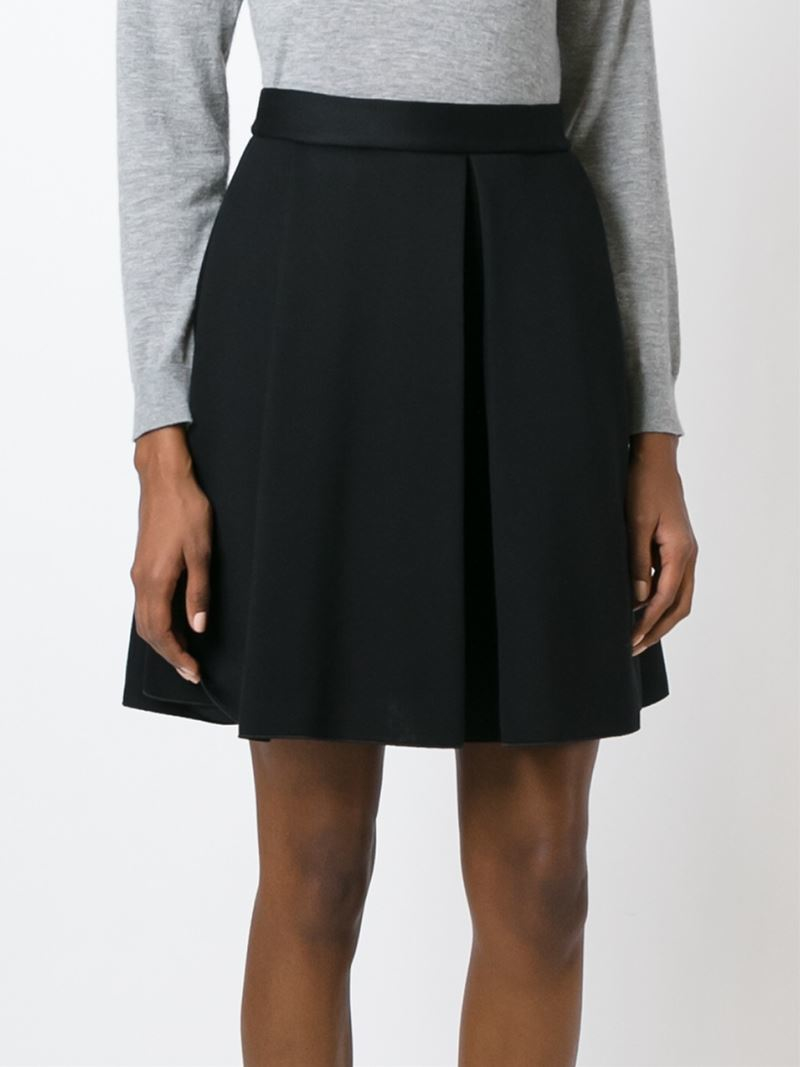 P.a.r.o.s.h. Pleated A-line Skirt in Black | Lyst