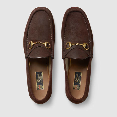 Lyst - Gucci 1953 Horsebit Suede Loafer in Brown for Men