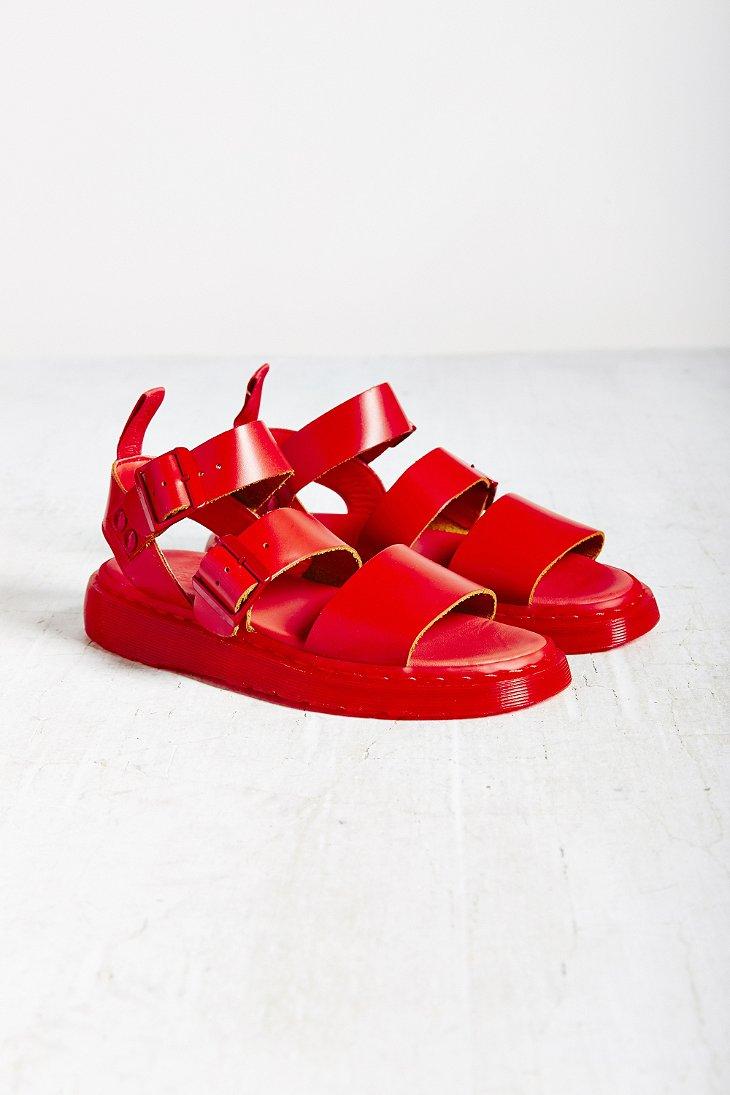Lyst Dr Martens Gryphon Strap Sandal In Red