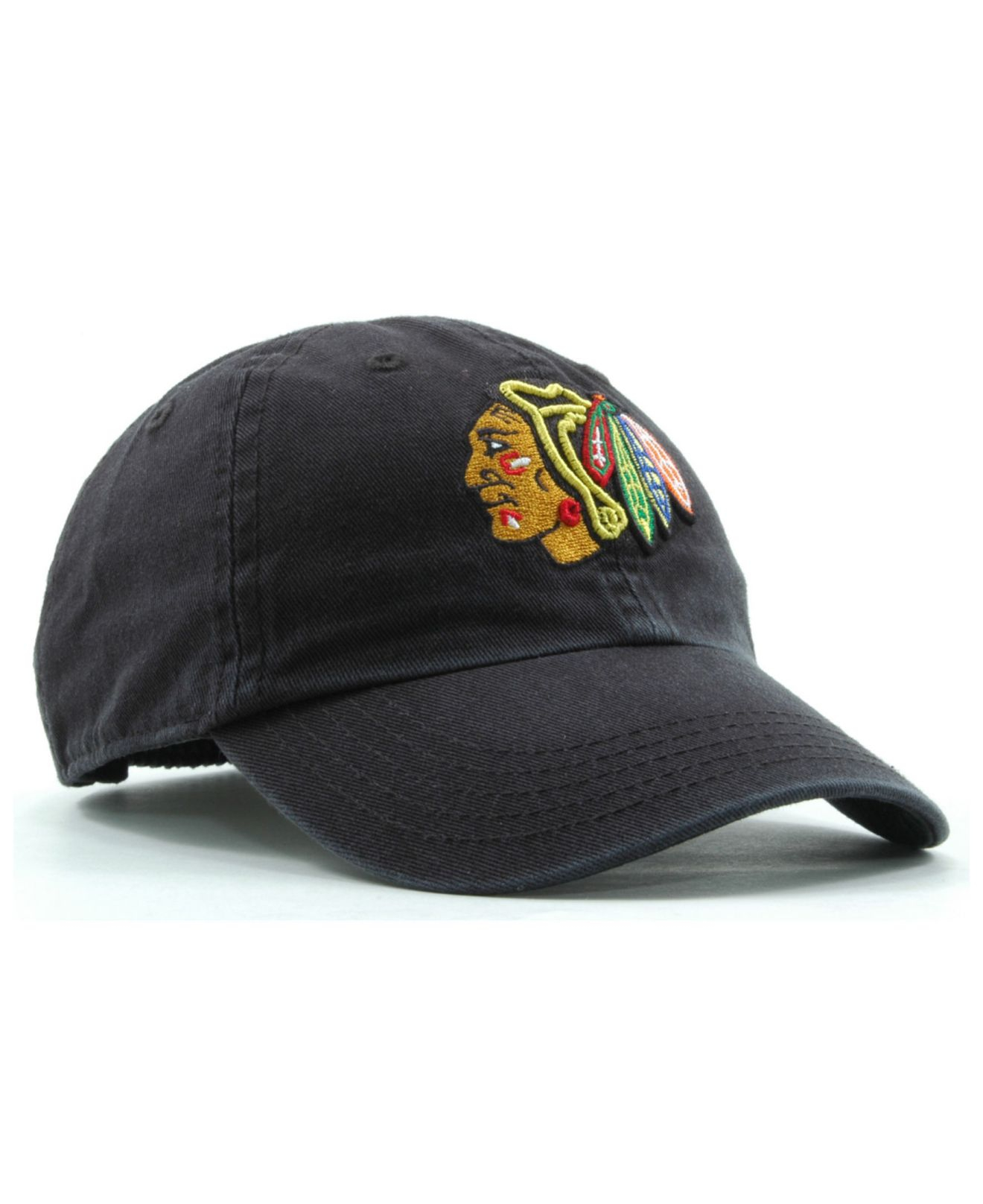 Lyst - 47 Brand Kids  Chicago Blackhawks Clean Up Cap in Black for Men 7df0caf3f355