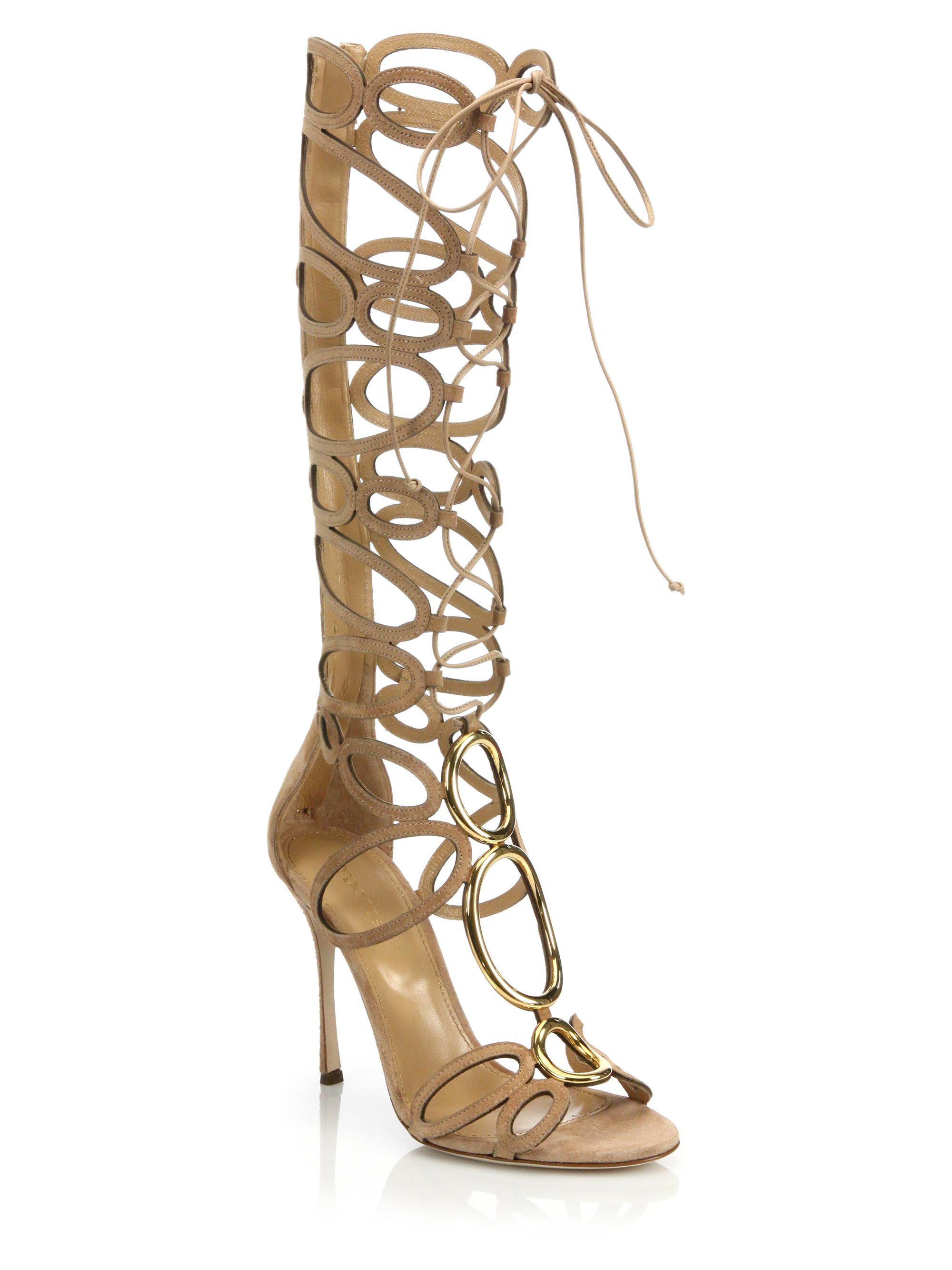 Sergio rossi Farrah Gladiator Sandals in Metallic | Lyst