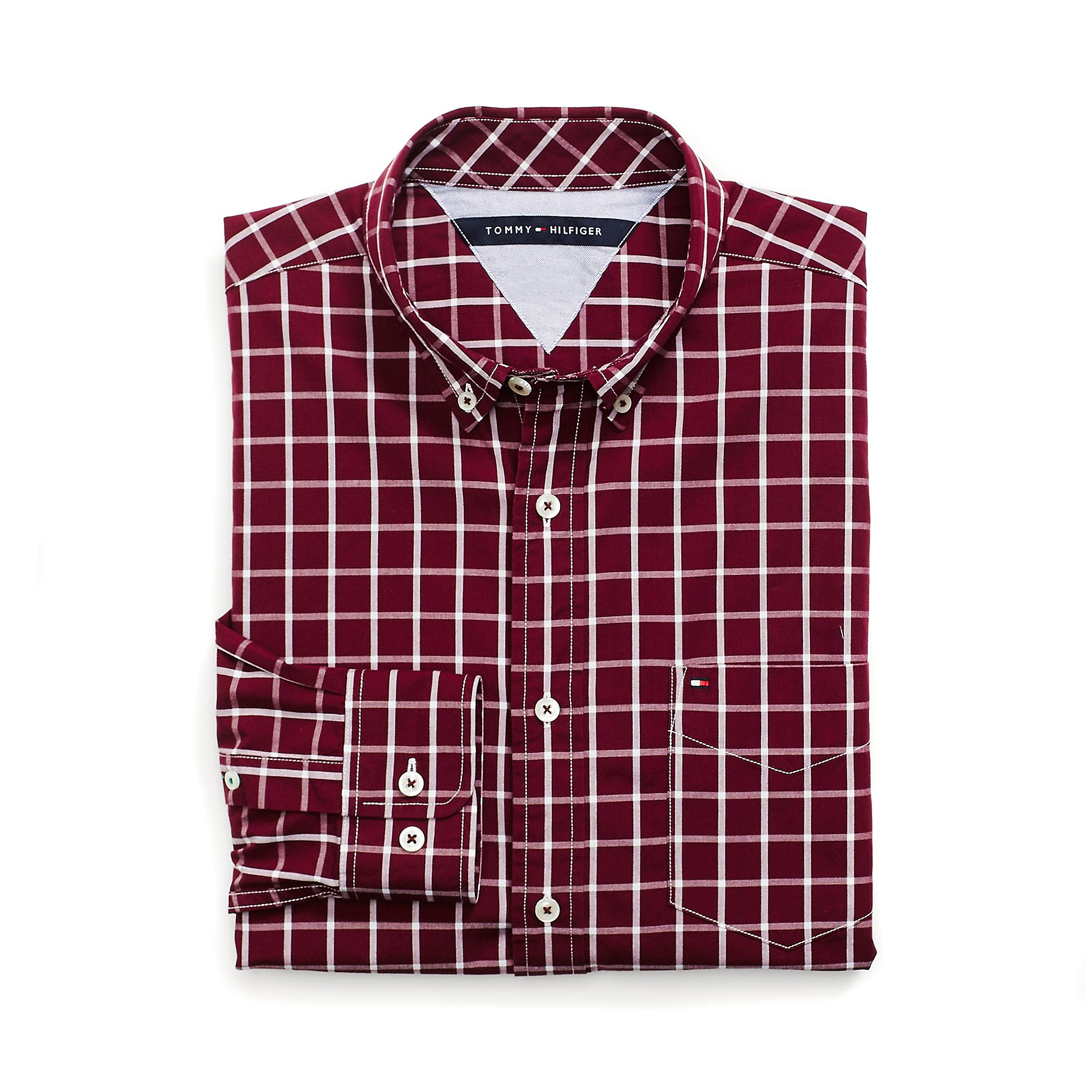 Tommy Hilfiger Classic Fit Plaid Shirt In Red For Men
