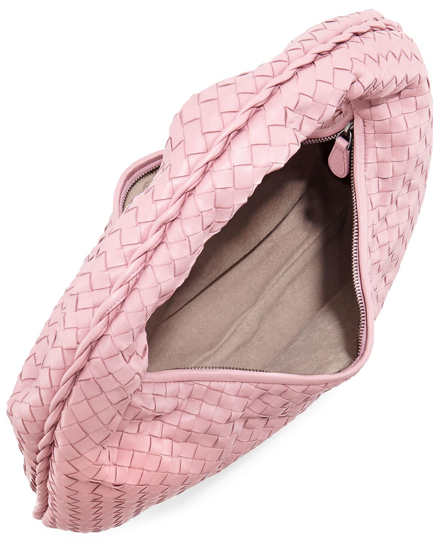 bde5ad816a Lyst - Bottega Veneta Veneta Intrecciato Large Hobo Bag in Pink
