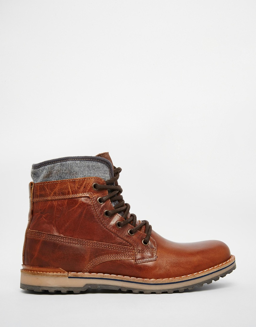 Lyst Aldo Prearia Leather Boots In Brown For Men
