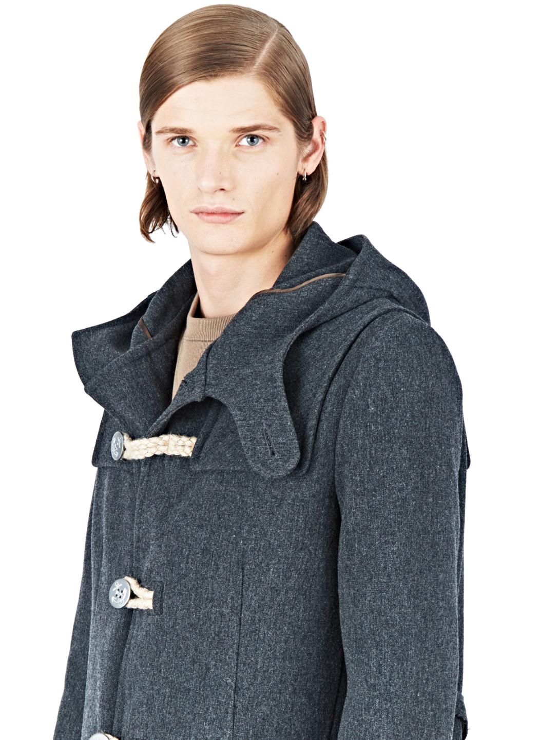 lyst kolor beacon wool duffle coat in gray for men. Black Bedroom Furniture Sets. Home Design Ideas