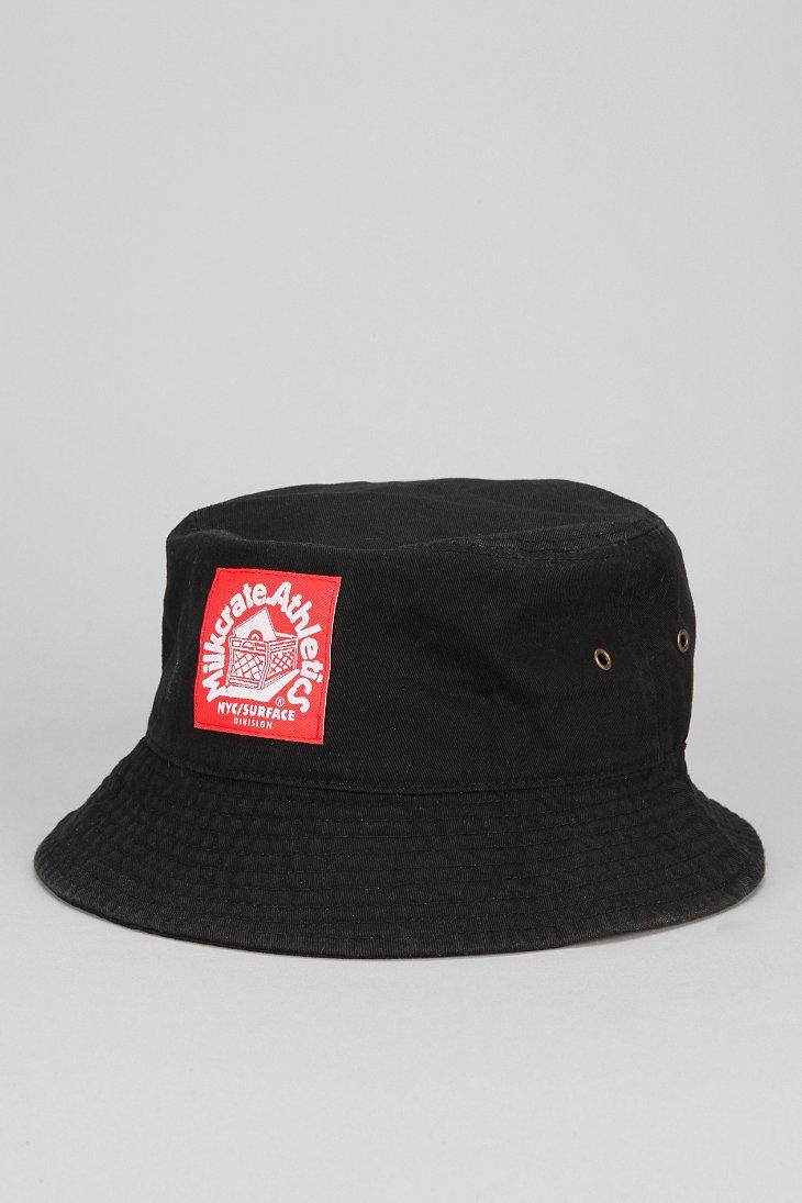 ... official photos ed118 3fcfa Lyst - Milkcrate Athletics X Uo Twill Bucket  Hat in Black fo ... 8ea549b4c7ea