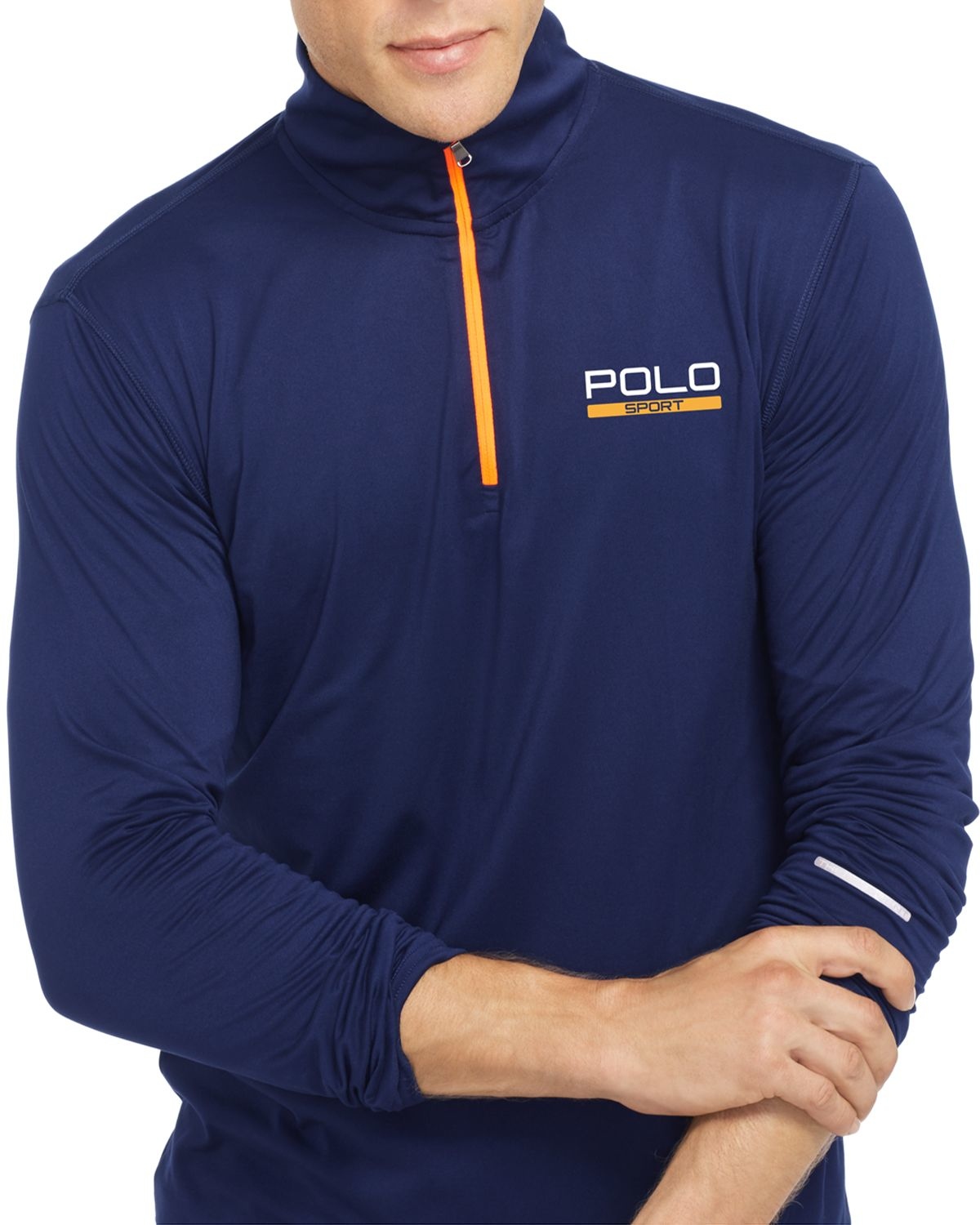 ralph lauren polo sport stretch jersey pullover in blue. Black Bedroom Furniture Sets. Home Design Ideas