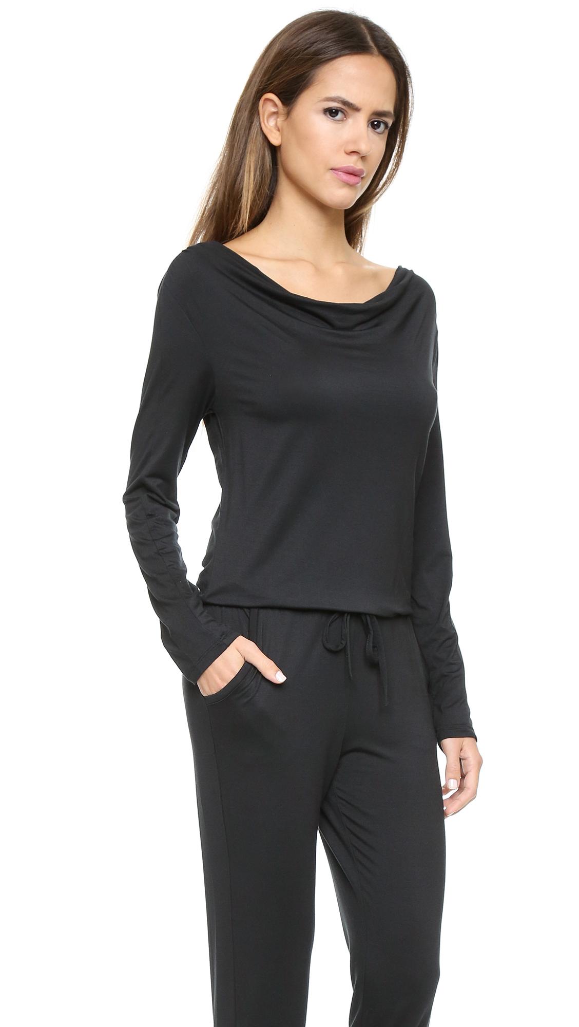 a53cd72ee30 Lyst - Calvin Klein Edge Jumpsuit - Light Grey Heather in Black