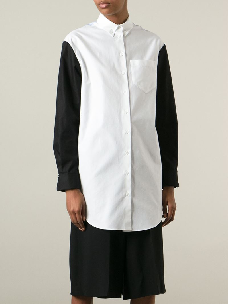 Lyst Carven 39 Oxford 39 Shirt Dress In White