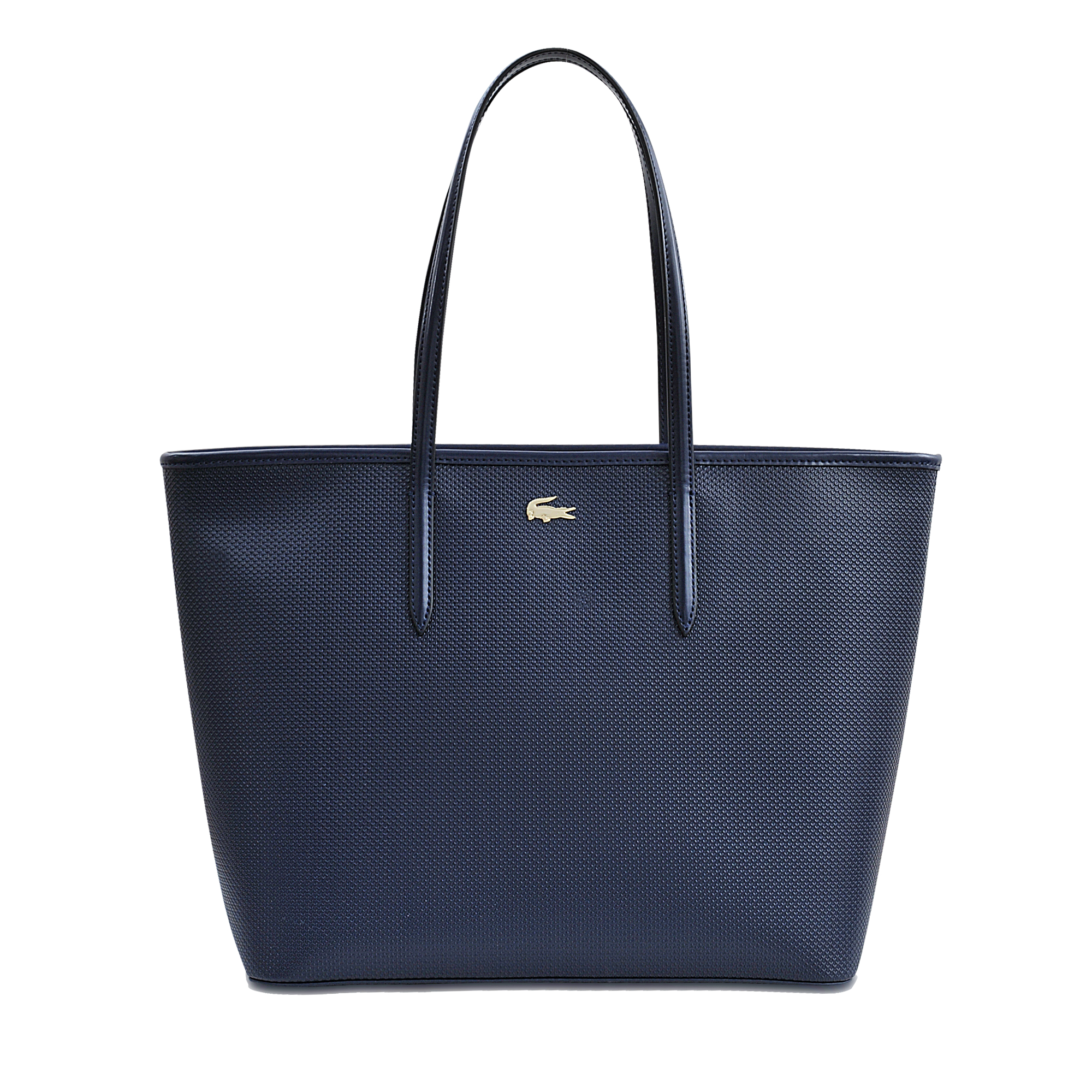 lacoste chantaco medium shopping tote in blue lyst