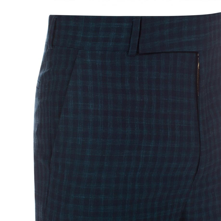 Lyst Paul Smith Men S Slim Fit Navy And Green Check Wool