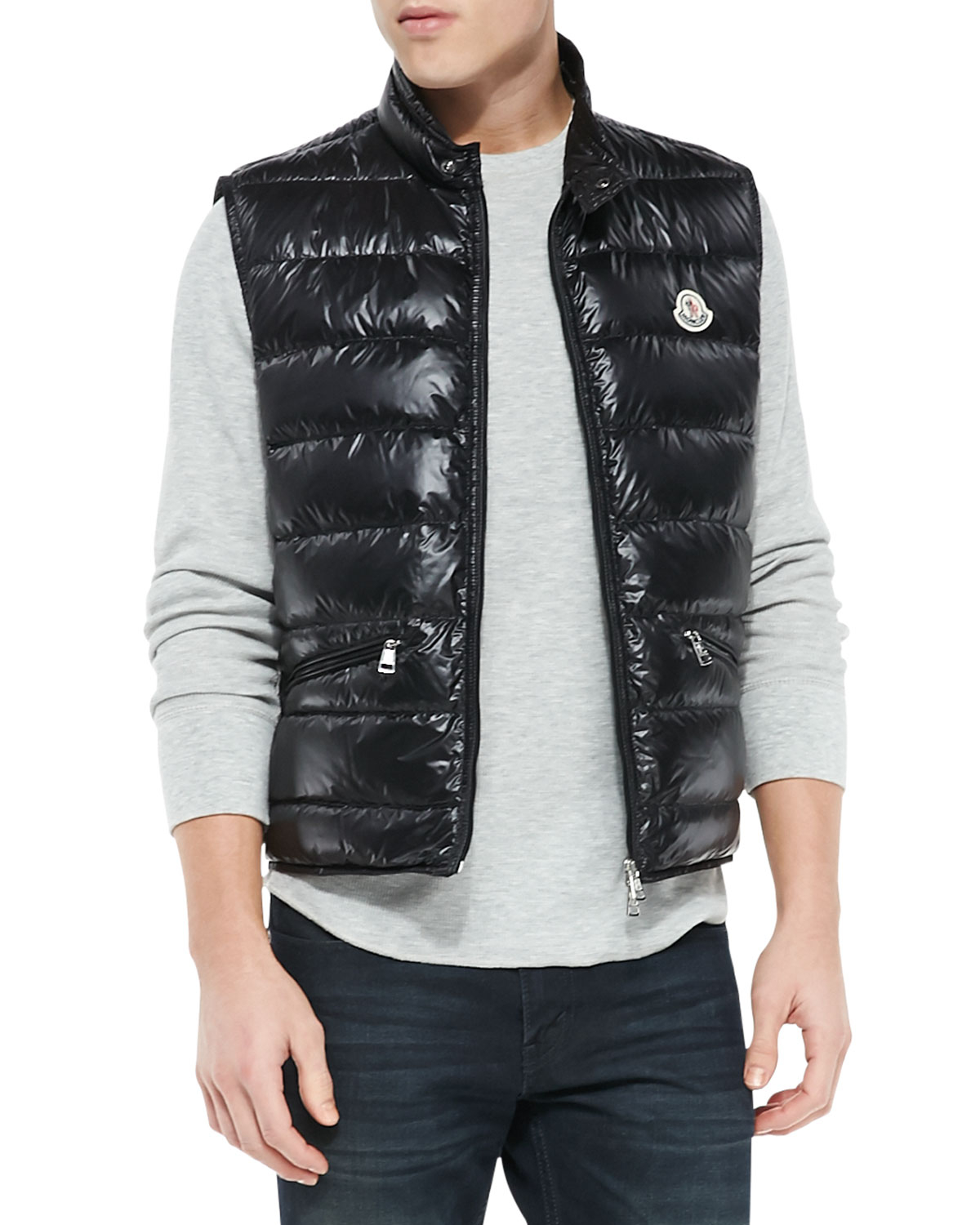 4364725ee Lyst - Moncler Gui Quilted Puffer Vest in Black for Men