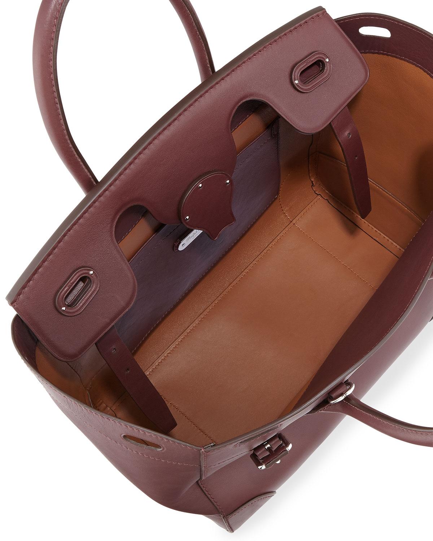 7b8e096b31 Lyst - Ralph Lauren Soft Ricky 33 Medium Calfskin Satchel Bag in Brown