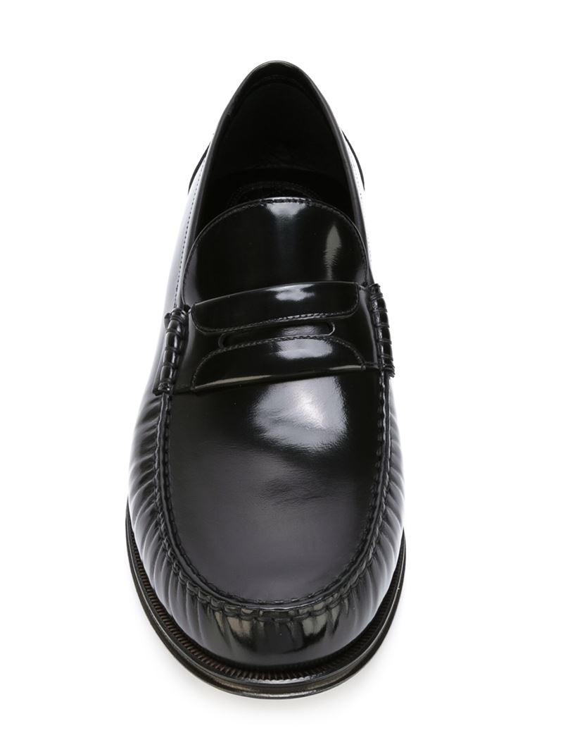 3adf36cb474 Lyst - Dolce   Gabbana Penny Loafers in Black for Men