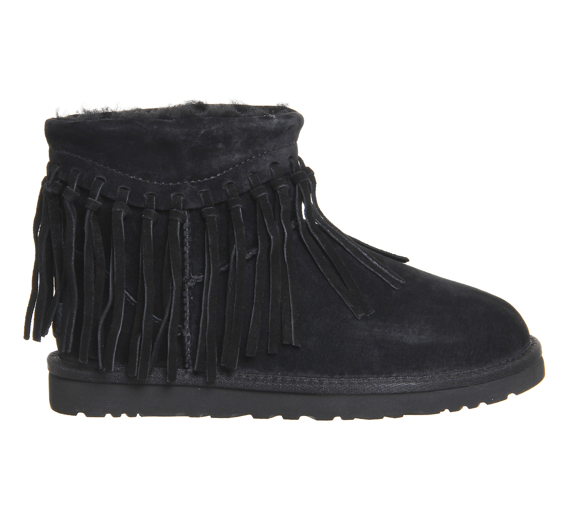 Ugg Wynona Fringe Boots In Black Lyst