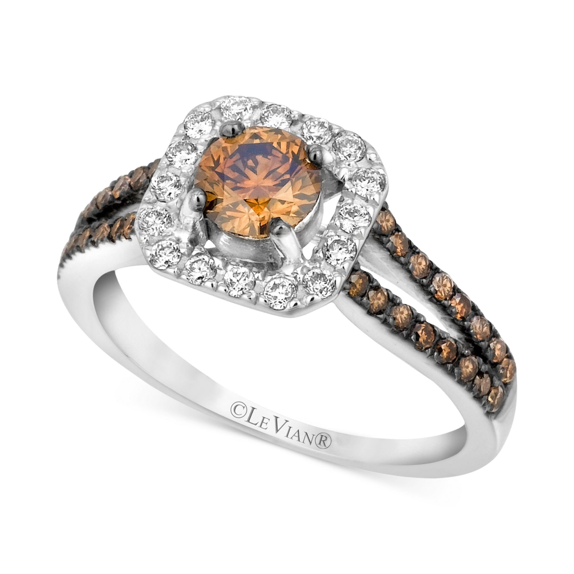 chocolate wedding rings le vian chocolate and white engagement ring in 14k 2917