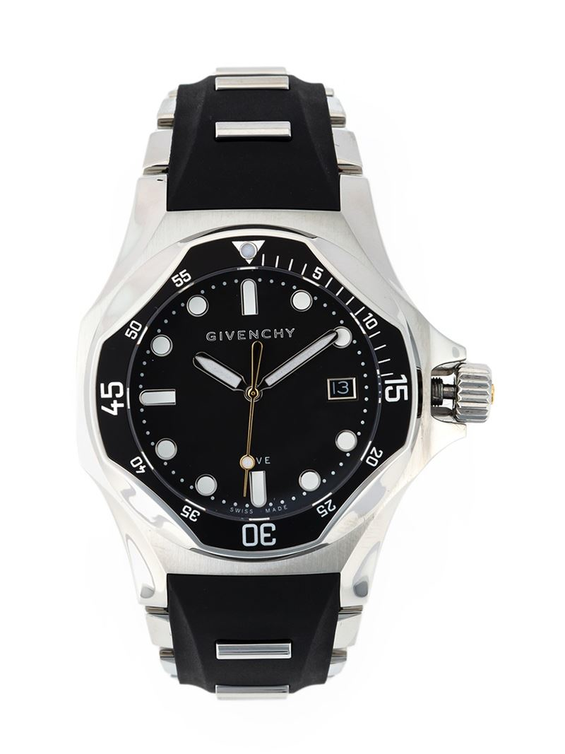 Lyst givenchy 39 five shark 39 watch in black for men for Givenchy watches