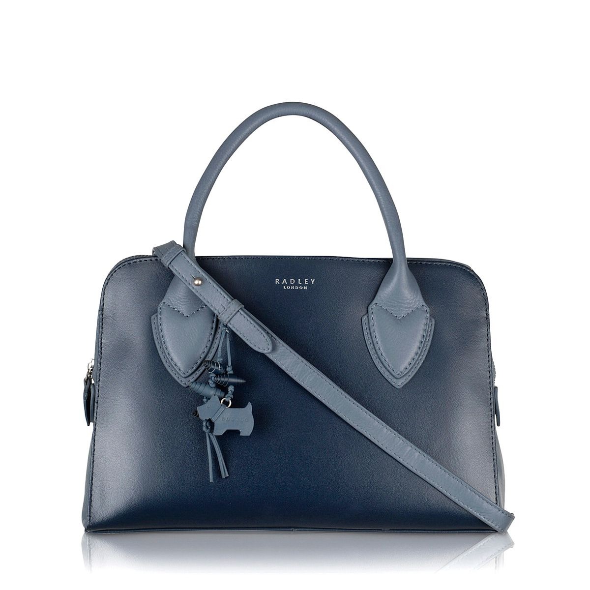 Radley Aldgate Plain Navy Leather Multiway Medium Bag in Blue (Navy)