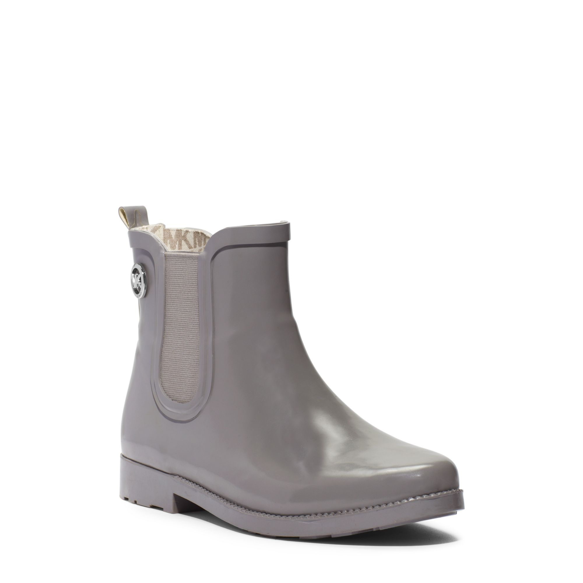Michael kors Short Rubber Rain Boot in Gray for Men | Lyst
