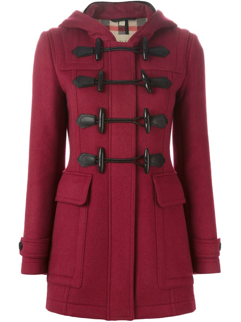 Burberry brit Hooded Duffle Coat | Lyst