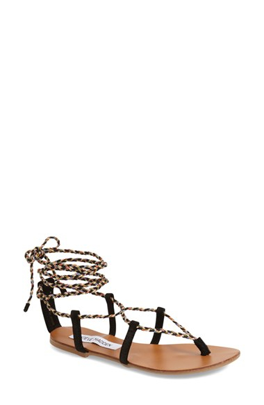 ee7381e7a4c Lyst - Steve Madden Werkit Leather Gladiator Sandals in Metallic