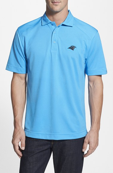 Cutter buck 39 carolina panthers genre 39 drytec moisture for Cutter buck polo shirt size chart