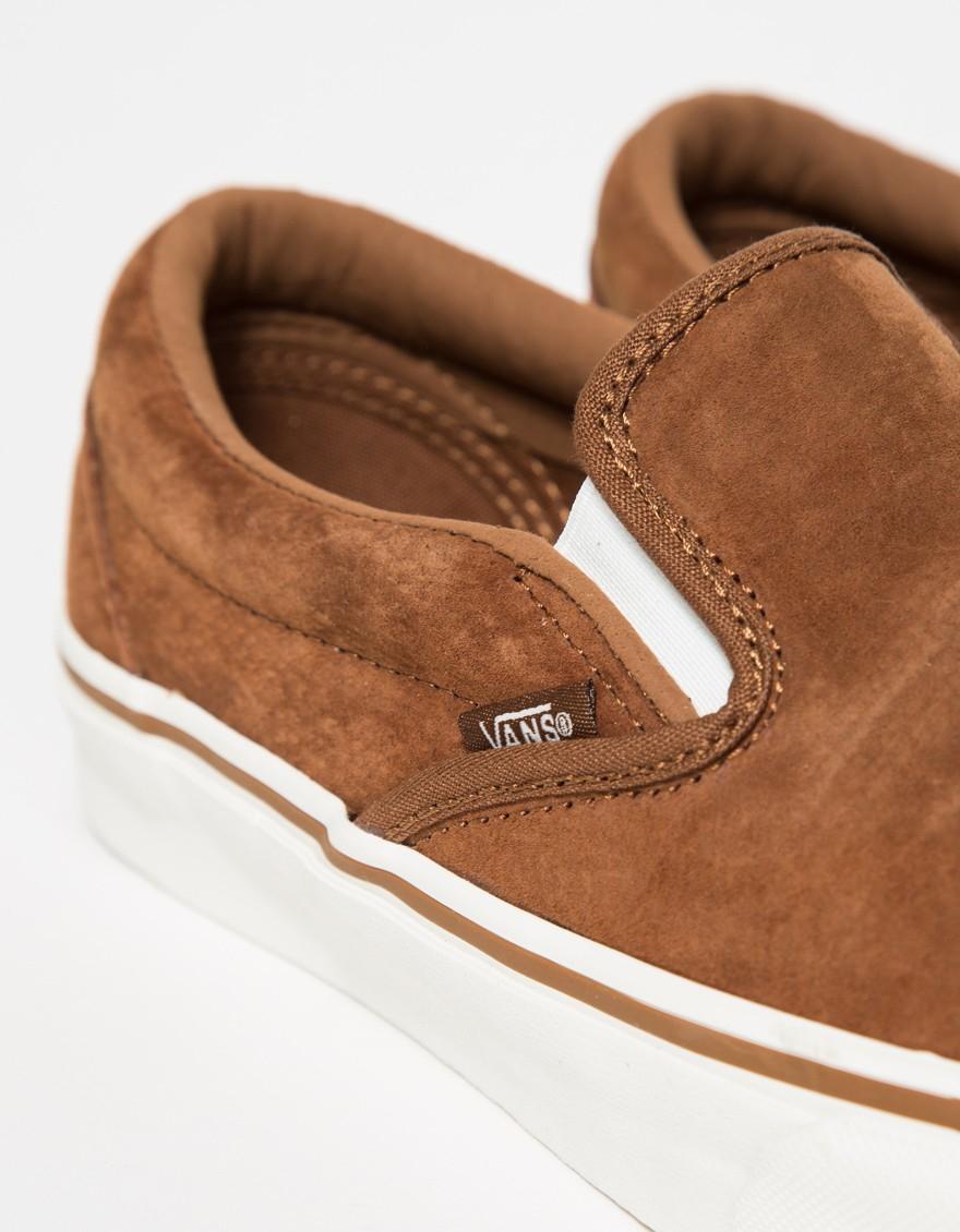 bacfd0efec4 Lyst - Vans Classic Slip-on Suede in Brown for Men