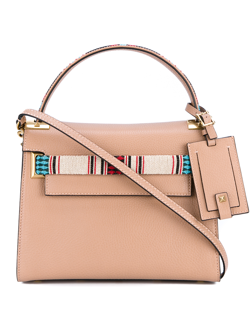 434505d4675c0 Valentino My Rockstud Small Beaded Leather Tote in Pink - Lyst