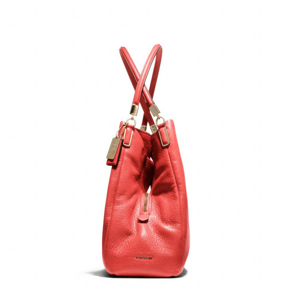 ac4c3ef4f1c4 ... wholesale lyst coach madison small phoebe shoulder bag in leather in  red 1b753 f250c ...