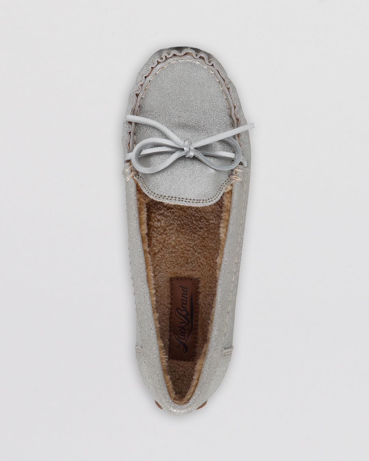 d212bbe6d4b Lyst - Lucky Brand Driving Moccasin Flats - Aligabe in Metallic