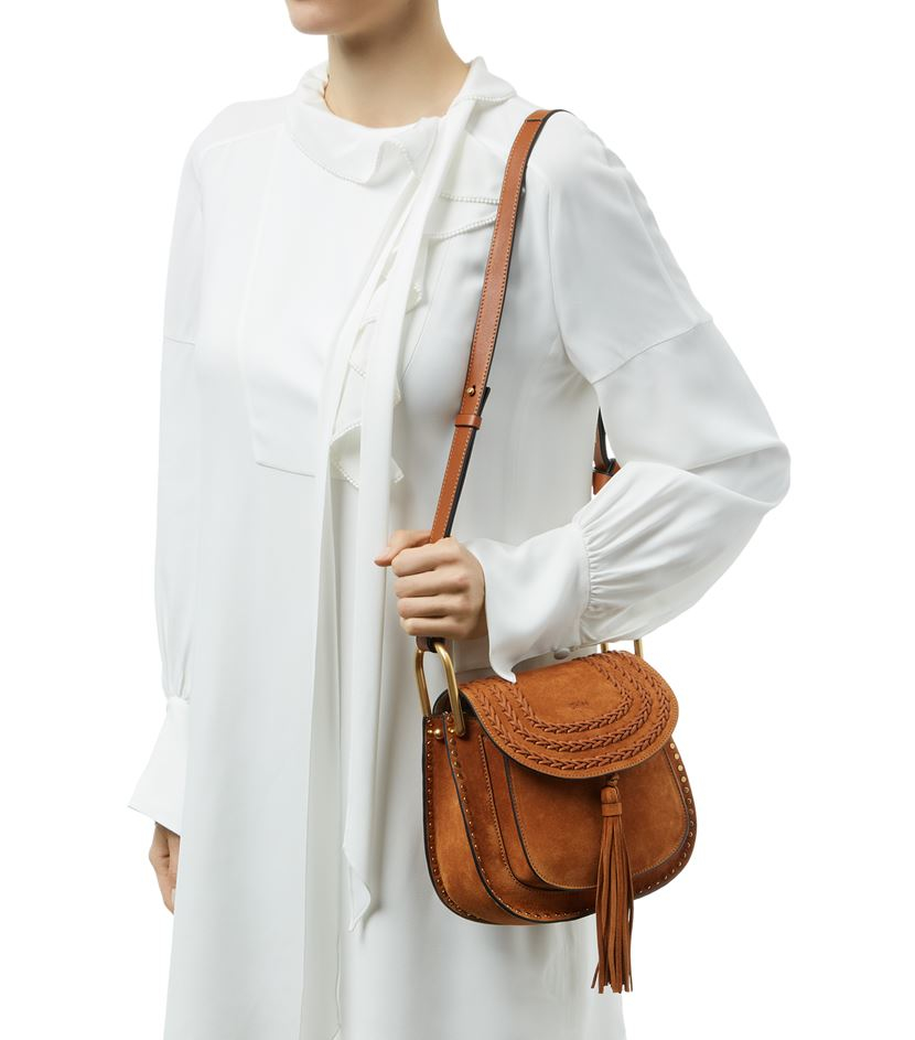 see by chloe purses - Chlo�� Small Hudson Suede Shoulder Bag in Brown | Lyst