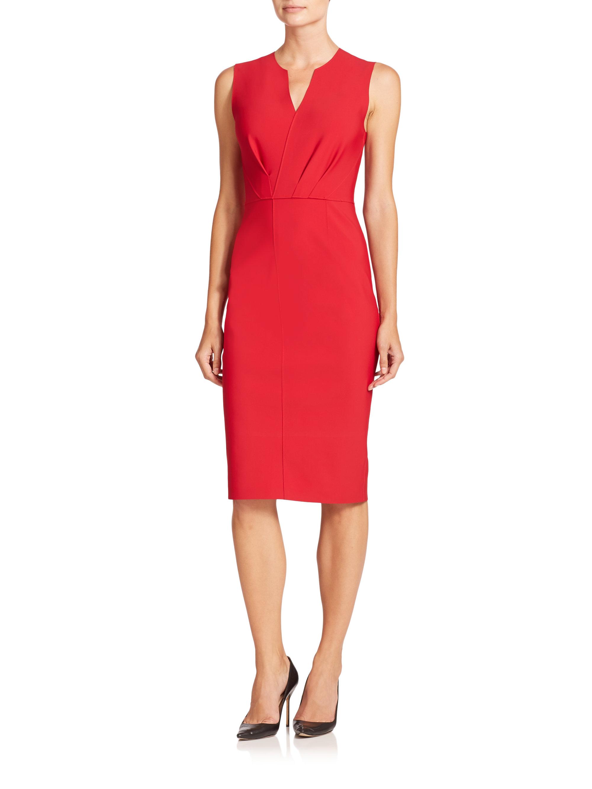 29750257a147 Elie Tahari Vernon Sheath Dress in Red - Lyst