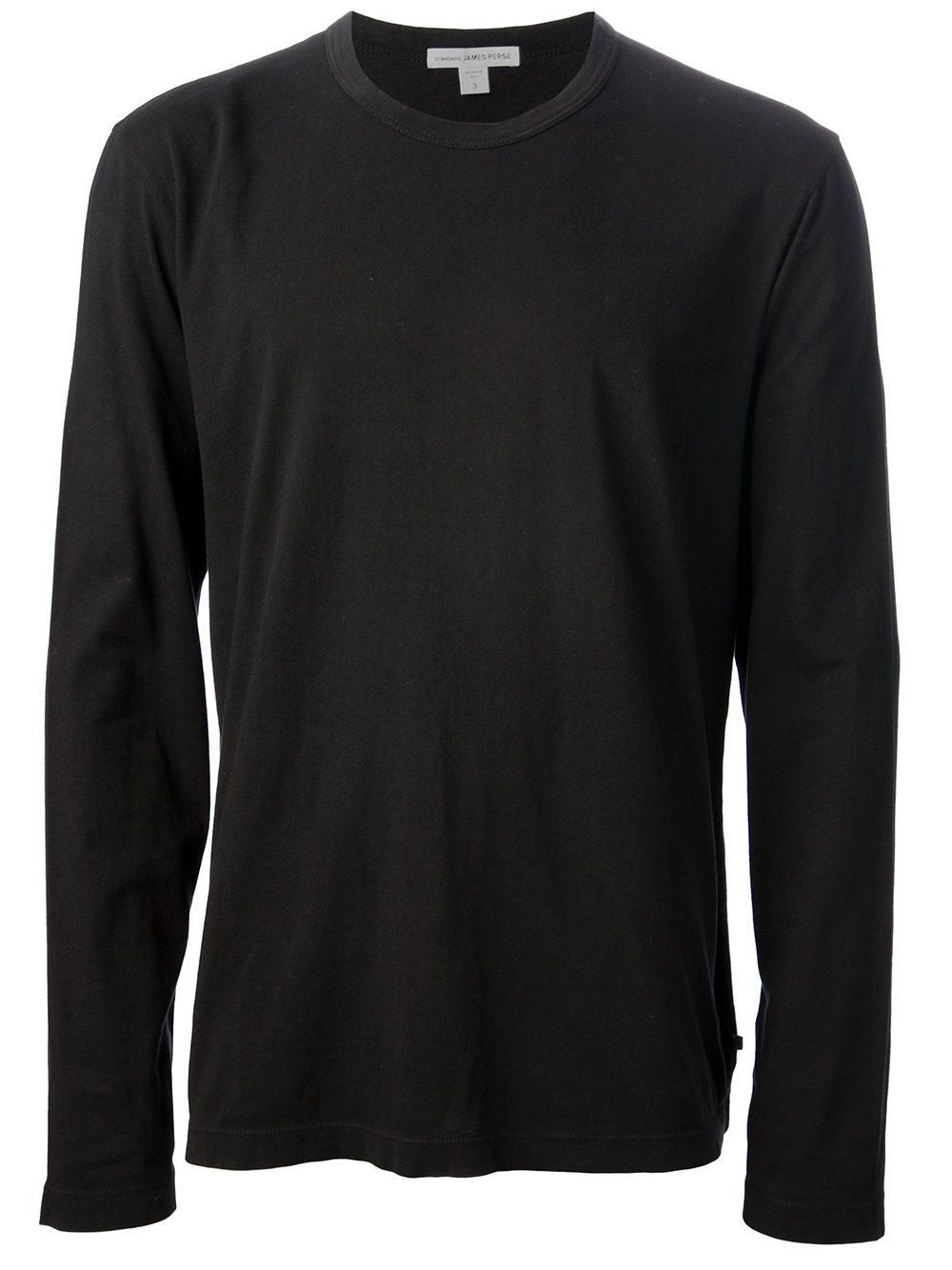 James perse long sleeve t shirt in black for men lyst for James perse t shirts sale