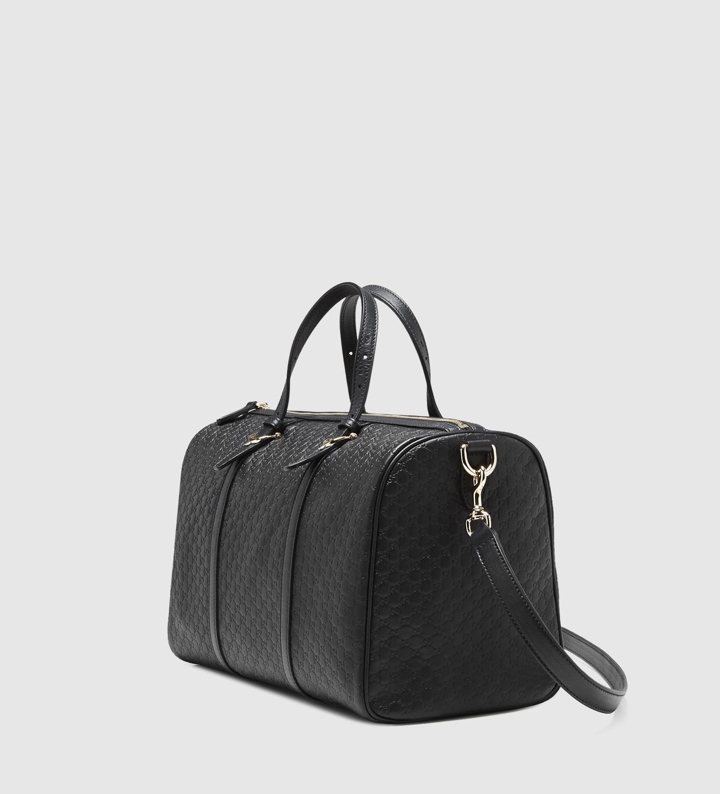 b5756f7fc1f Lyst - Gucci Nice Microguccissima-Leather Boston Bag in Black