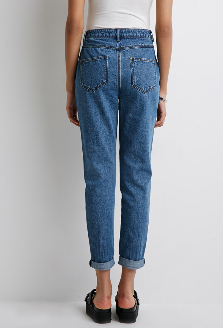 d65c3b2ca2 Forever 21 High-rise Mom Jeans in Blue - Lyst