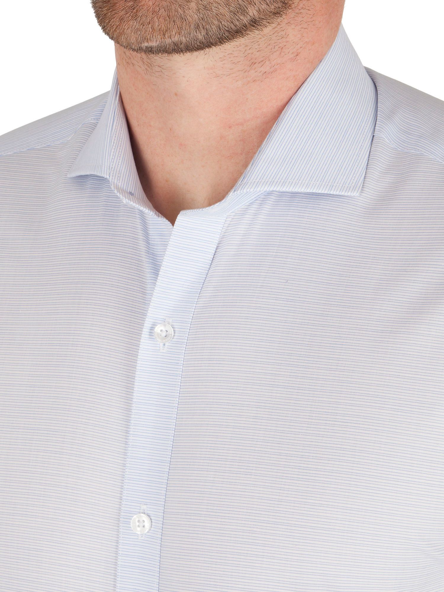 Racing green chandler horizontal stripe formal shirt in for Horizontal striped dress shirts men