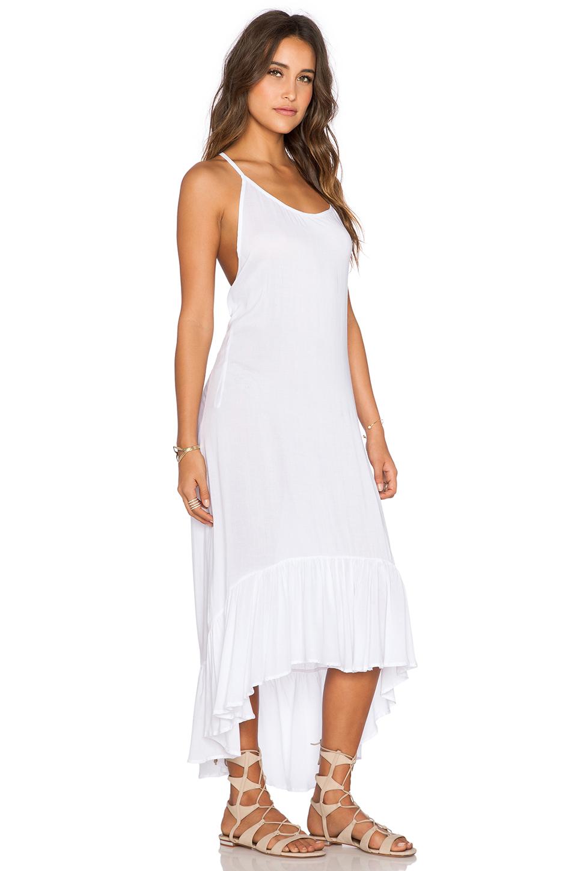 552b9b21f0 Lyst - Indah Leyti Ruffle Sundress in White