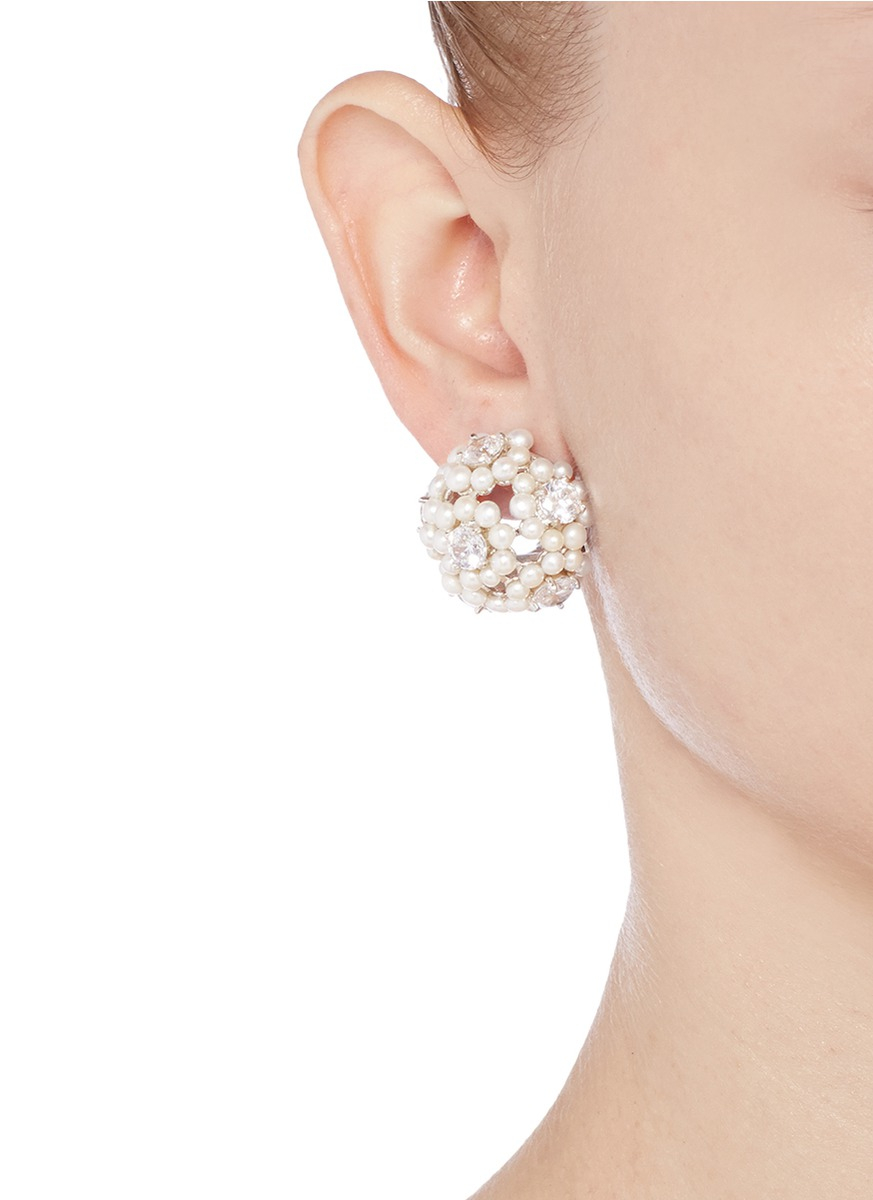 Kenneth Jay Lane Gold-plated Faux Pearl Earrings - White JOPDYLT