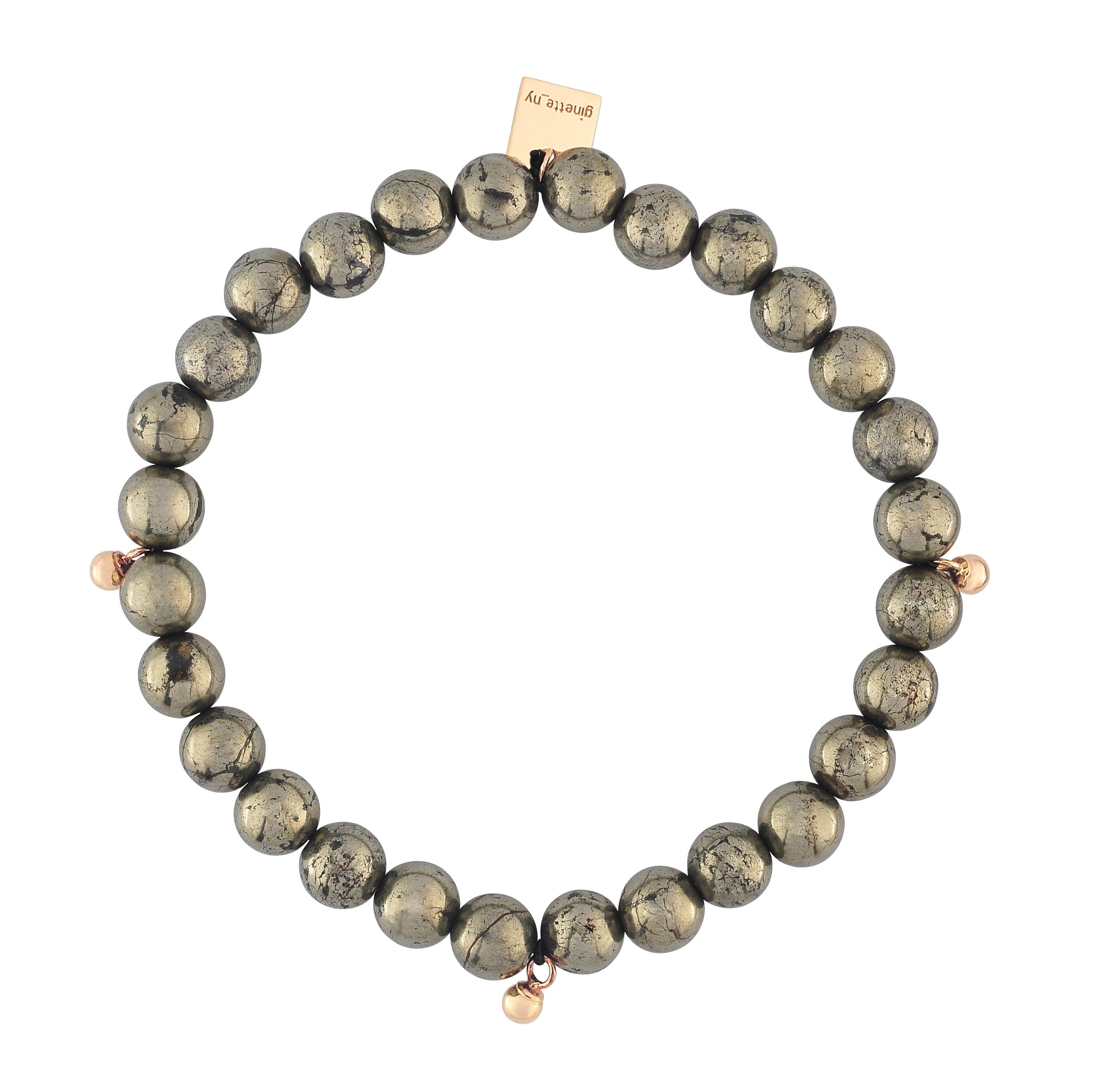ginette ny pyrite elastic bracelet in gray lyst