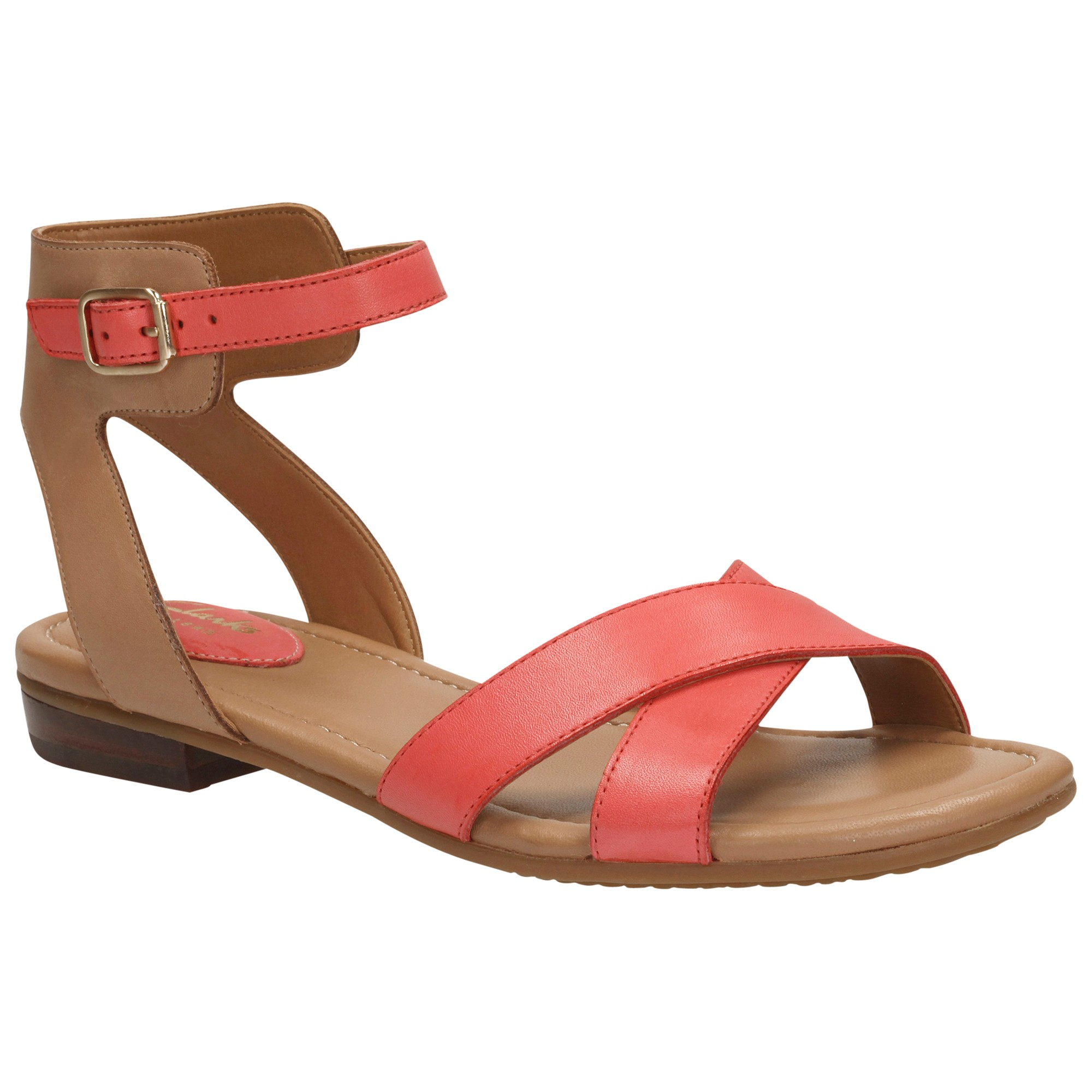 44719fafa6c Clarks Viveca Zeal Leather Ankle Strap Sandals in Pink - Lyst