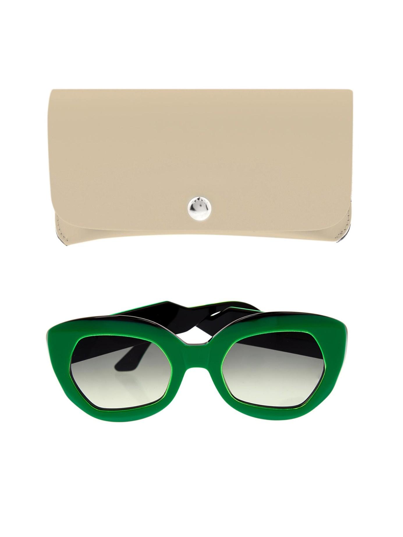 cat eye sunglasses - Green Marni Eyewear 55qXk