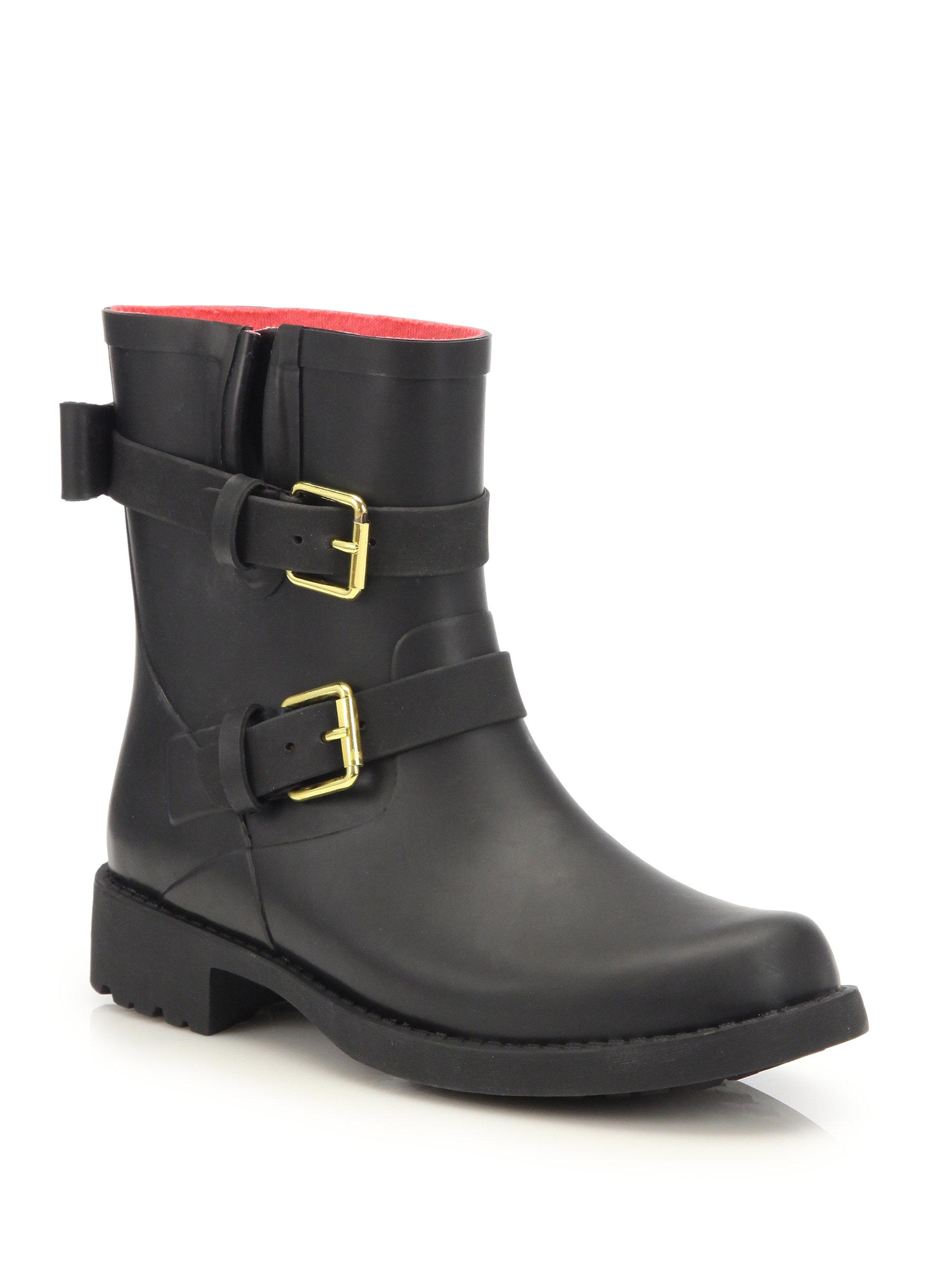 Lyst Kate Spade Pamela Rubber Rain Boots In Black