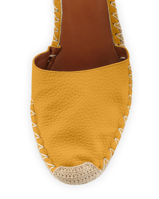 d4174dec78b Lyst - Valentino Rockstud Leather Espadrille Wedge in Orange