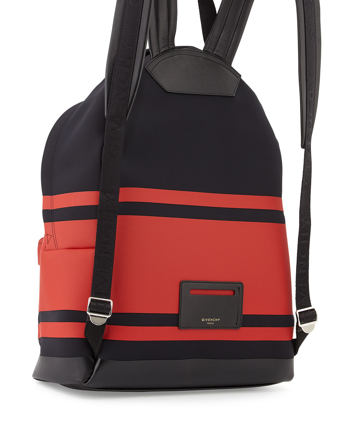 322dc2b514 Lyst - Givenchy Striped Neoprene Backpack in Red