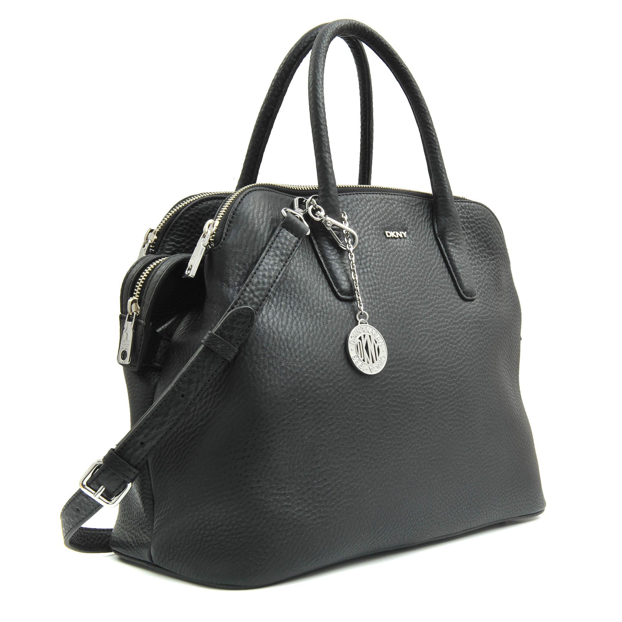 dkny triple zip tribeca bag in black lyst